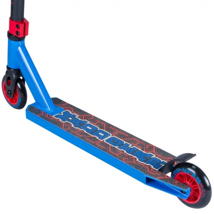 Madd Kick Pro X Stunt Scooter in Blue/Red Rear View