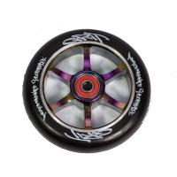 Grit Scooters - 6 Spoke Black on Neochrome ACW 110mm Wheel