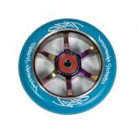 Grit Scooters - 6 Spoke Blue on Neochrome ACW 110mm Wheel
