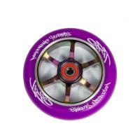 Grit Scooters - 6 Spoke Purple on Neochrome ACW 110mm Wheel