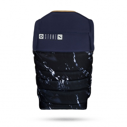 Mystic Stone Wake Impact Vest Front Zip in Navy Rear View