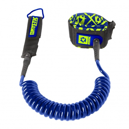 Mystic Coiled SUP 8ft Leash in Navy