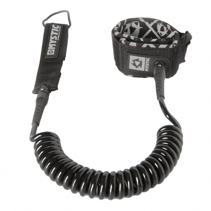 Mystic Coiled SUP 8ft Leash in Black