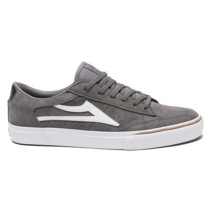 Lakai Ellis in Grey and White Suede Side