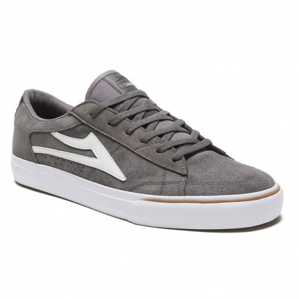Lakai Ellis in Grey and White Suede