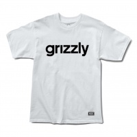 Grizzly Griptape - Lowercase Logo T-shirt in White