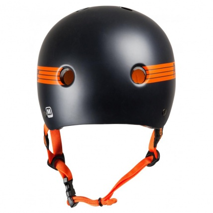 Protec Classic Pro Bucky Helmet in Black/Orange Back
