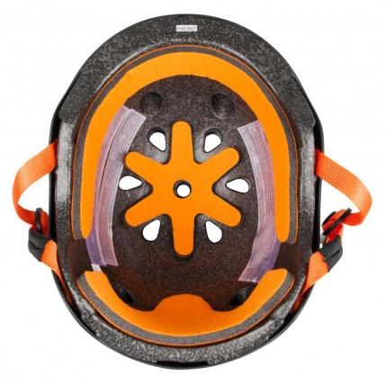 Protec Classic Pro Bucky Helmet in Black/Orange inside