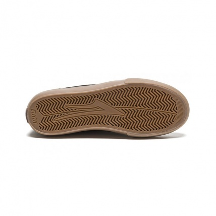 Lakai Griffin WT Black/Gum Oiled Suede Skate Shoe Sole