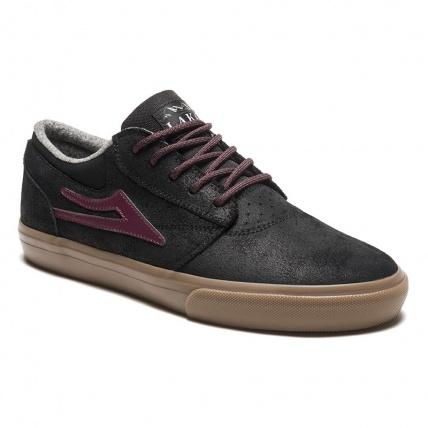 Lakai Griffin WT Black/Gum Oiled Suede Skate Shoe