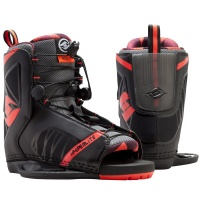 Hyperlite - Remix Open Toe Wakeboard Bindings Black Red