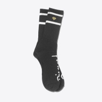 Diamond - High Stripe Socks in Black and Heather