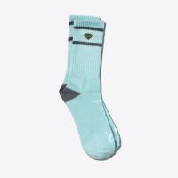 Diamond - High Stripe Socks in Diamond Blue & Charcoal