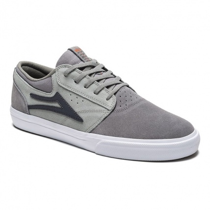 Lakai Griffin Light Dark Grey Suede Skate Shoe