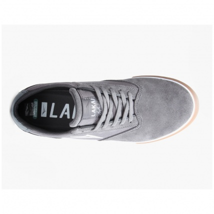 Lakai Guymar in Grey Suede and Gum Inside