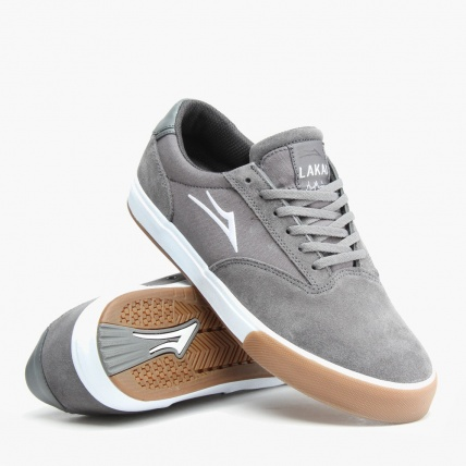 Lakai Guymar in Grey Suede and Gum Pose