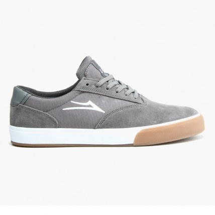 Lakai Guymar in Grey Suede and Gum Side