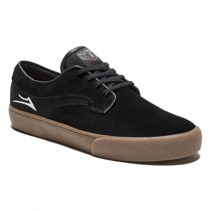 Lakai Riley Hawk Black and Gum Suede