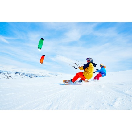 Ozone Hyperlink V1 Foil Kite on Snow