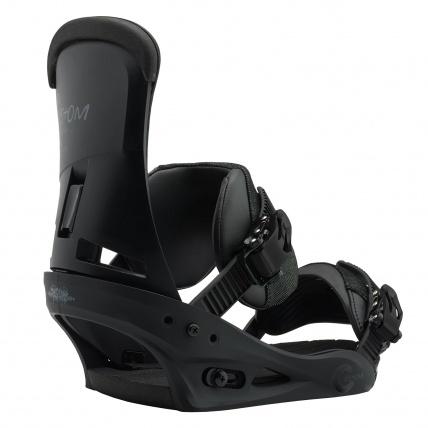Burton Custom Snowboard Bindings in Matte Black back side