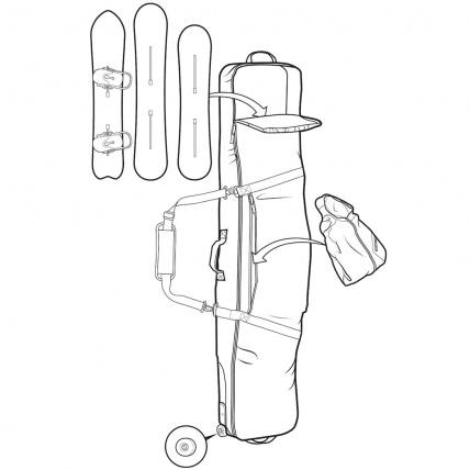 Burton Wheelie Gig Travel Snowboard Bag in Eclipse specs