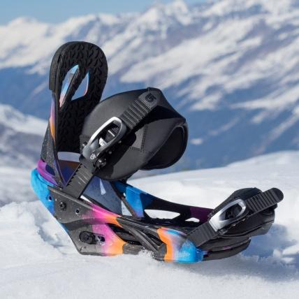 Burton Scribe Snowboard Binding Northern Lights at Spring Break Snowboard Test