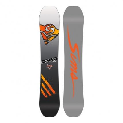 Sims Juice Snowboard on white