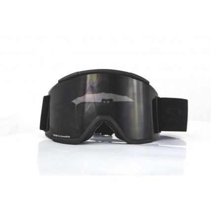 Smith Squad XL Blackout ChromaPop Black Snow Goggles front