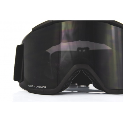 Smith Squad XL Blackout ChromaPop Black Snow Goggles close up