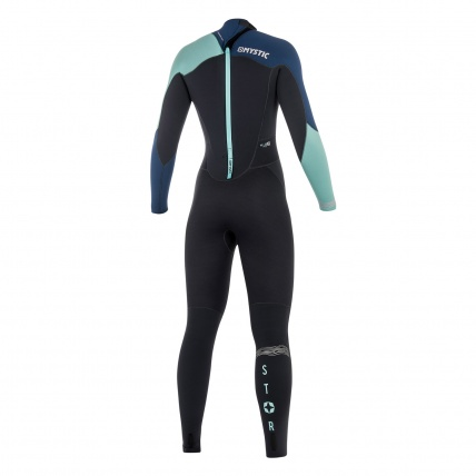 Mystic Star Womens 5/4mm BZ Winter Wetsuit In Navy back