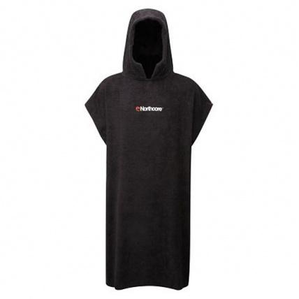 North Core Beach Basha Black Changing robe Poncho