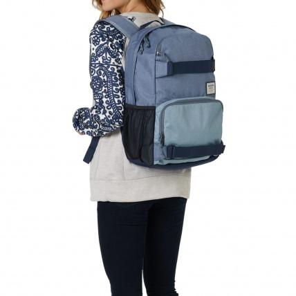 Burton Treble Yell Skate Backpack LA Sky Heather on Back