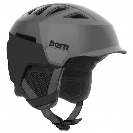 Bern Heist Brim Grey Black Snow Helmet
