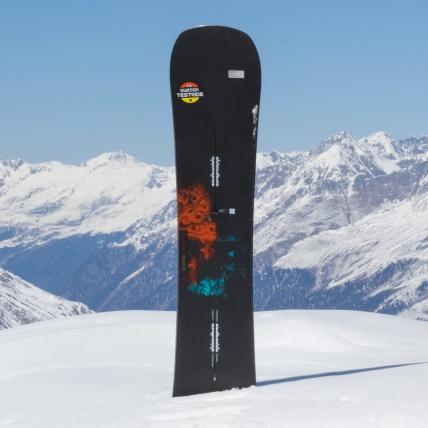 Burton Instigator Snowboard at Spring Break Snowboard Test top sheet graphic