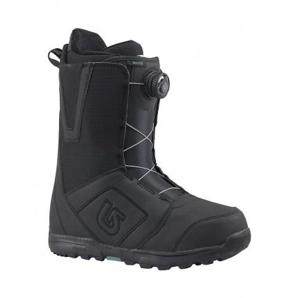 Burton Moto Boa Mens Snowboard Boots in Black front