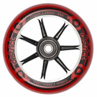District - 110mm Cast Alloy Core Wheel Red on Black