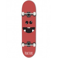 Fracture - Lil Monsters Red Complete Skateboard 8.0