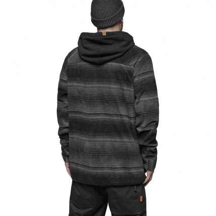 Thirty Two Filter Polar Fleece Zip in Carbon back