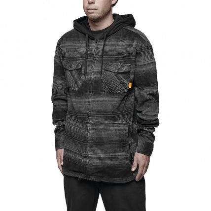 Thirty Two Filter Polar Fleece Zip in Carbon front