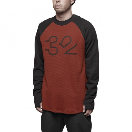 Thirty Two Mutiny Long Sleeve Base Layer Tee Oxblood front