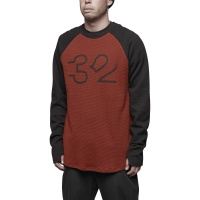 Thirty Two - Mutiny Long Sleeve Base Layer T Shirt Oxblood