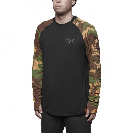 Thirty Two Ridelite Long Sleeve Base Layer in Camo front