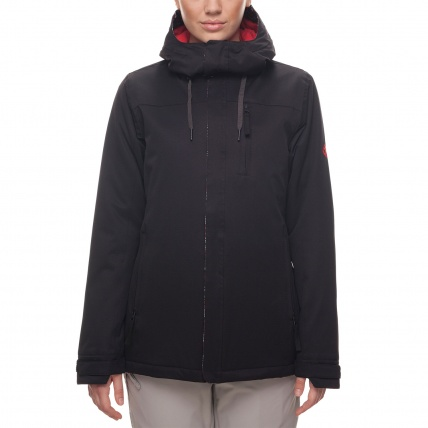 686 Eden Black Womens Insulated Snowboard Jacket front