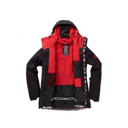 686 Eden Black Womens Insulated Snowboard Jacket open