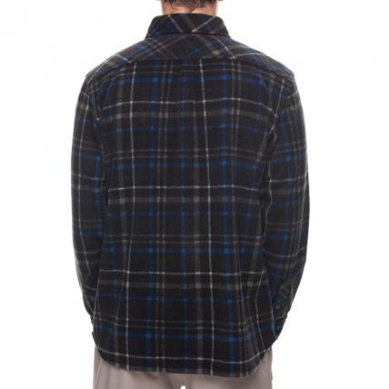 686 Sierra Black Plaid Mens Flannel Fleece Shirt back