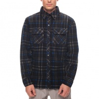 686 - Sierra Black Plaid Mens Flannel Fleece Shirt