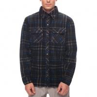 686 - Sierra Black Plaid Mens Flannel Fleece Shirt