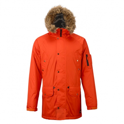 Analog Frazier Mens Snowboard Jacket in Jello Shot front