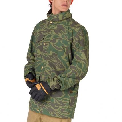 Analog Tollgate Mens Noodle Camo Snowboard Jacket front model
