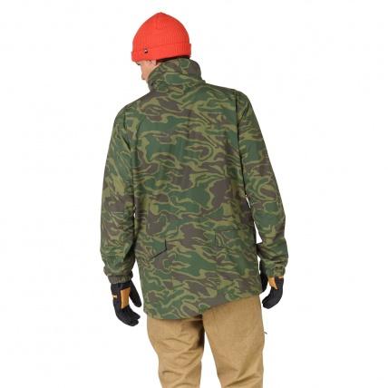 Analog Tollgate Mens Noodle Camo Snowboard Jacket model back